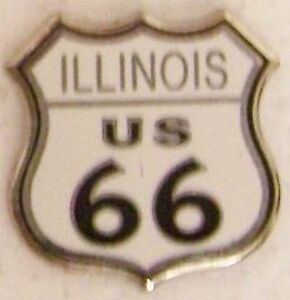 Hat-Lapel-Pin-Push-Tie-Tac-Route-66-Illinois-The-Mother-Road-NEW-shield