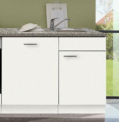 Spülenunterschrank Favorit Weiß 110 Cm Mit Arbeitsplatte/Spüle Ohne  Spülmaschine