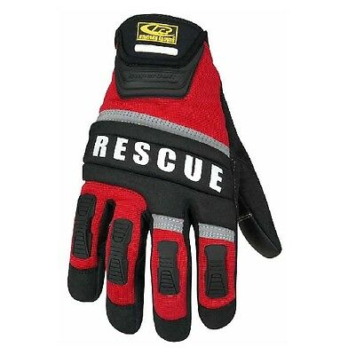 New! Ringers Gloves Rescue Two Layer Fingertip Design Glove Red X-Large 345-11