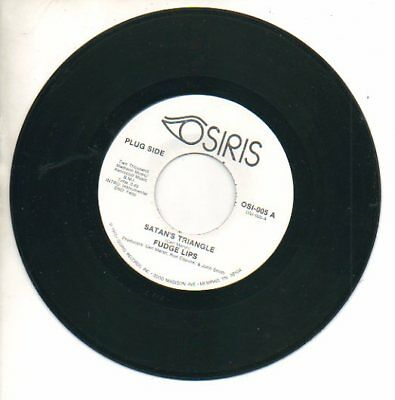 Holiday Fudge - FUDGE LIPS 45 RPM Funk Record SATAN'S TRIANGLE / PLEASE COME HOME FOR CHRISTMAS