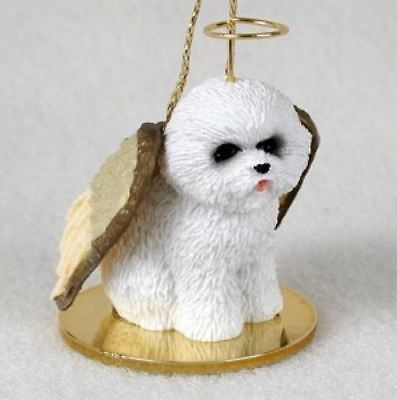 BICH0N FRISE ANGEL DOG CHRISTMAS ORNAMENT HOLIDAY Figurine Statue Memorial gift