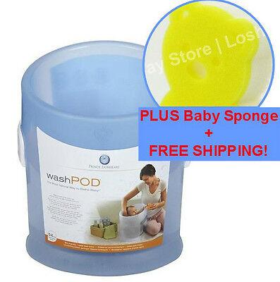 Prince Lionheart Baby WashPOD Infant Blue Bath Tub Cushion Safe Bear Sponge GIFT