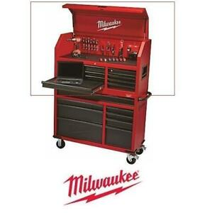 """NEW MILWAUKEE TOOLS TOP CHEST 46"""" 48-22-8510 199843332 8 DRAWER TOOL CABINET"""