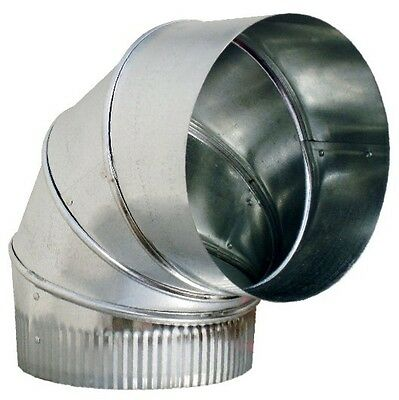 3 90 Galvanized 26 Gauge Adjustable Sheet Metal Elbow Duct - Hvac Ductwork