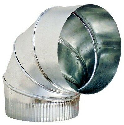 14 90 Galvanized 24 Gauge Adjustable Sheet Metal Elbow Duct - Hvac Ductwork
