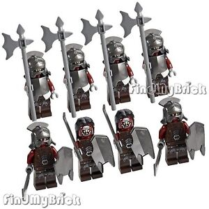 8x Lego Lord of the Rings Uruk-hai Minifigures Orc Army - Lot of 8 NEW 9474 9471