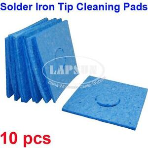 10 pcs soldering iron cleaner pad replacement sponges solder tip cleaning pad. Black Bedroom Furniture Sets. Home Design Ideas