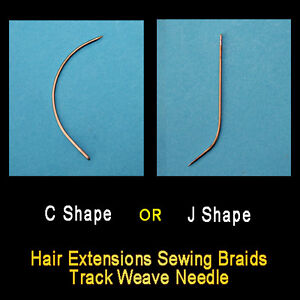 Hair-Extensions-Sewing-Braids-Track-Weave-Needle-C-shaped-or-J-shaped