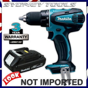 makita 18v cordless drill driver bdf456 replaces bdf452 amp 1 3ah battery bl1815 ebay. Black Bedroom Furniture Sets. Home Design Ideas