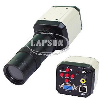2mp 3in1 Hd Industrial Lab Microscope Camera Vga Usb Av Tv Output C-mount Lens