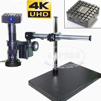 4k Uhd Hdmi Industrial Digital Video 20x-180x Lens Microscope Camera Measuring S