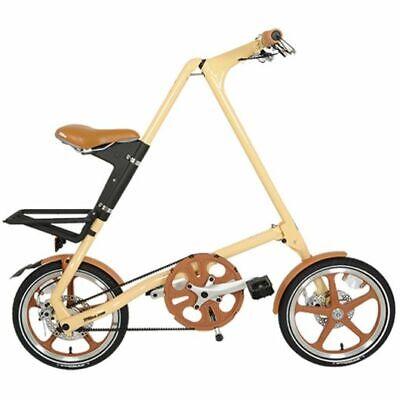 Strida Lt Crema 16 Pulgadas Bicicleta Plegable Bicicleta de Ciudad