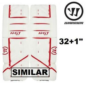NEW WARRIOR R/GT2 HOCKEY PADS GT2CLPI9 238411783 INTERMEDIATE 32+1 RED WHITE WITH KNEE PADS