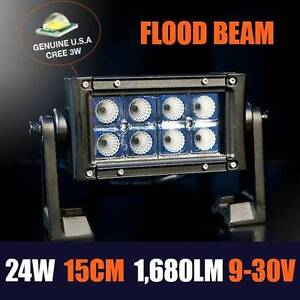 24W 6Inch CREE LED FLOOD LIGHTBAR - Landcruiser, Jeep, Navara Toowoomba Toowoomba City Preview