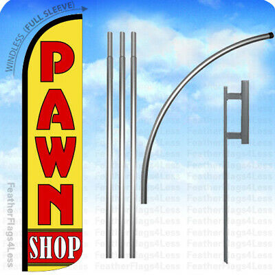 Pawn Shop - Windless Swooper Flag 15 Kit Feather Banner Sign - Yz