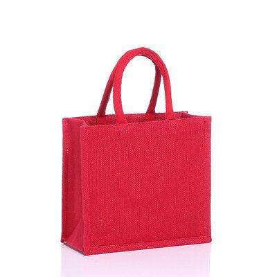 5 x Luxury Mediam plain jute bags, 5 pcs. RED , Christmas discount, £12.99](Discount Tote Bags)