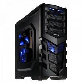 Used PC Mid Case Tower (empty) ANTEC GX505 WINDOW BLUE - 120X80X173