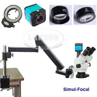 3.5-90x Simul-focal Trinocular Stereo Stand 14mp Hdmi Usb Camera Microscope S