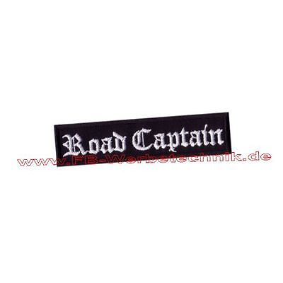 Road Captian Patch Biker MC Kutte Aufnäher ca.10x2,5 cm Rocker Kutte Rang Patch