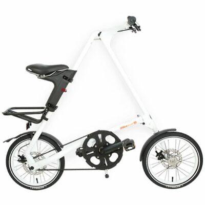STRIDA Evo White 18 Pulgadas Bicicleta Plegable Bicicleta de Ciudad