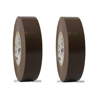 2 Rolls Brown Vinyl Pvc Electrical Tape 34 X 66 Flame Retardant Free Shipping