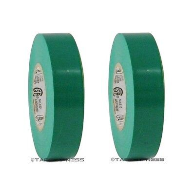 2 Rolls Green Vinyl Pvc Electrical Tape 34 X 66 Flame Retardant Free Shipping