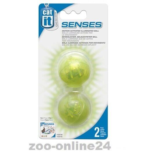 Catit DESIGN SENSES, 2er Set-LED-Ball, Katzen-Leucht-Ball, Katzenspielzeug:50776