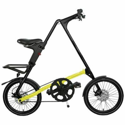 STRIDA SX Black Amarillo Neón Man 18 Pulgadas Bicicleta Plegable de Ciudad