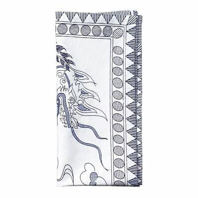 $350 KIM SEYBERT SET OF 7 DRAGON BLUE AND WHITEAPKINS NEIMAN MARCUS