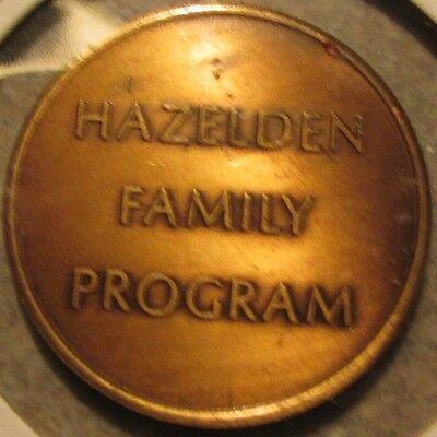 Vintage Hazelden Family Program Center City, MN AA Token - Minnesota Minn.