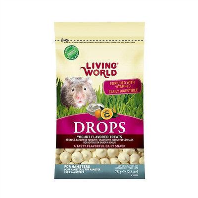 Hagen Living World HAMSTER DROPS FLAVORED TREATS Yogurt, Honey or Berry 2.6 - Berry Yogurt Drops