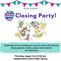 Summer Reading Club - Closing Party!
