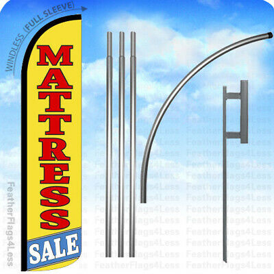 Mattress Sale - Windless Swooper Flag 15 Kit Feather Banner Sign - Yz