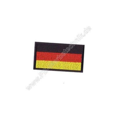 Deutschland Flagge Fahne BRD KLETT Aufnäher Patch 6 x 3,5cm Gestickt Abzeichen