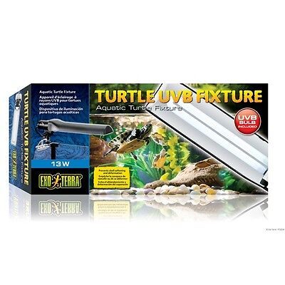 Exo Terra Aquatic Turtle UVB Fixture W/ Lamp Terrarium Light 13 Watt