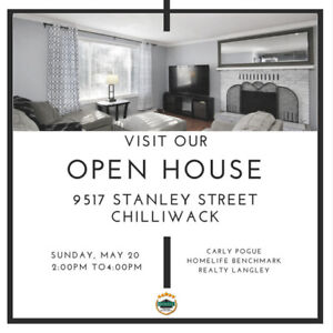 OPEN HOUSE 9517 Stanley St, Chilliwack -->Today 2 to 4pm