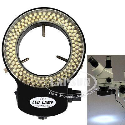 110v-240v 144 Led Bright 6500k Ring Light Microscope Illuminator Adjustable Lamp