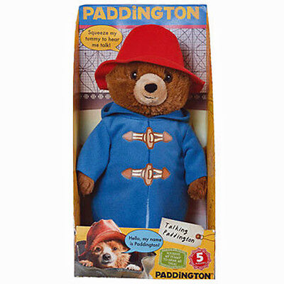 30cm TALKING PADDINGTON BEAR GENUINE LICENSED
