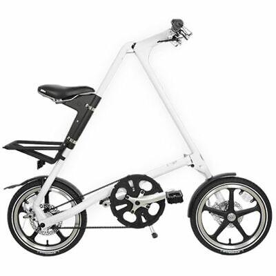 Strida Lt White 16 Pulgadas Bicicleta Plegable Bicicleta de Ciudad