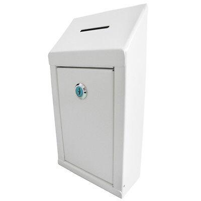 Mcb Secure Metal Donation Boxsuggestion Boxwlock 2 Keys Easy Wall Mounting