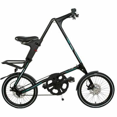 STRIDA SX Mate Black 18 Pulgadas Bicicleta Plegable Bicicleta de Ciudad