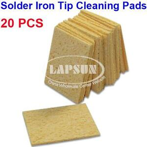 20pcs-Soldering-Iron-Cleaner-Replacement-Sponges-Solder-Tip-Cleaning-Pad-New