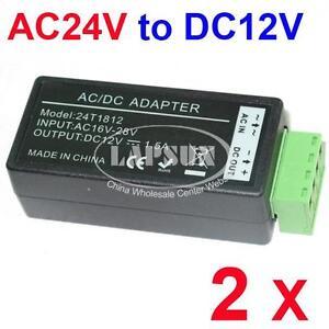 2-PCS-AC-24V-to-DC-12V-Power-Converter-Adapter-Balun-for-CCTV-Security-Camera-AU