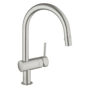 Grohe 31378DC0 Minta Dual Spray Down Kitchen Faucet Super Steel