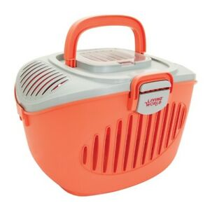 Grey/Orange Living World Paws2Go Small Pet Carrier