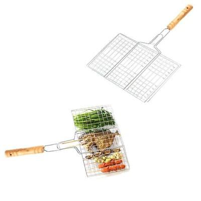 BBQ  Mesh Net Grid Basket Outdoor Cooking Roast Tool Grilling Meat Fish