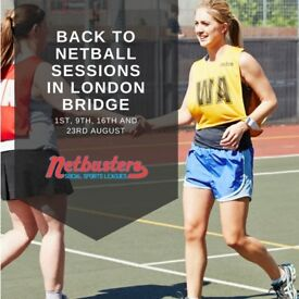 Back to Netball Sessions in London Bridge