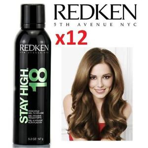 12 NEW  REDKEN VOLUMIZING MOUSSE 183441147 STAY HIGH 18 - HIGH-HOLD GEL TO MOUSSE 147G HAIR SPRAY