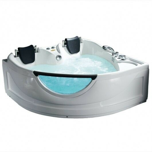 Luxury 2-Person Free Standing Corner Jetted Combination Tub-10 Year Warranty