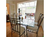 Glass Table & 6 Chairs - Reluctantly selling!